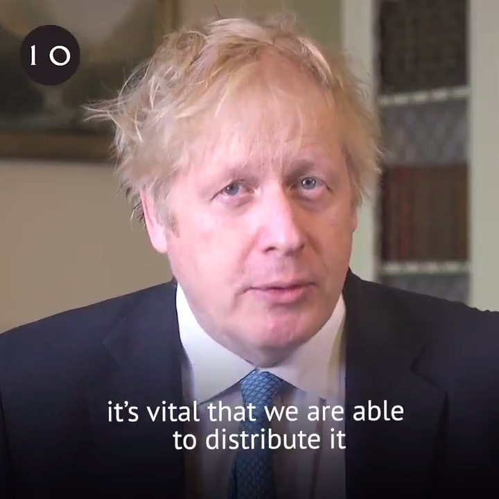 """The race to find a vaccine is not a competition between countries, but the most urgent shared endeavour of our lifetimes. We're in this together, and together we will prevail.""   – PM @BorisJohnson calls on countries to come together to defeat coronavirus. https://t.co/vNJ0ctyRpz"