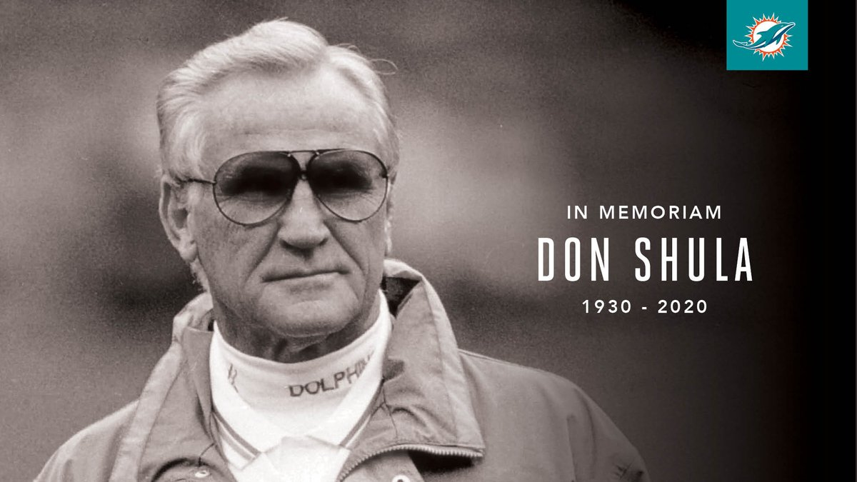 The Greatest.  Thank you for everything, Coach Shula. https://t.co/7eXY4ZOKn6