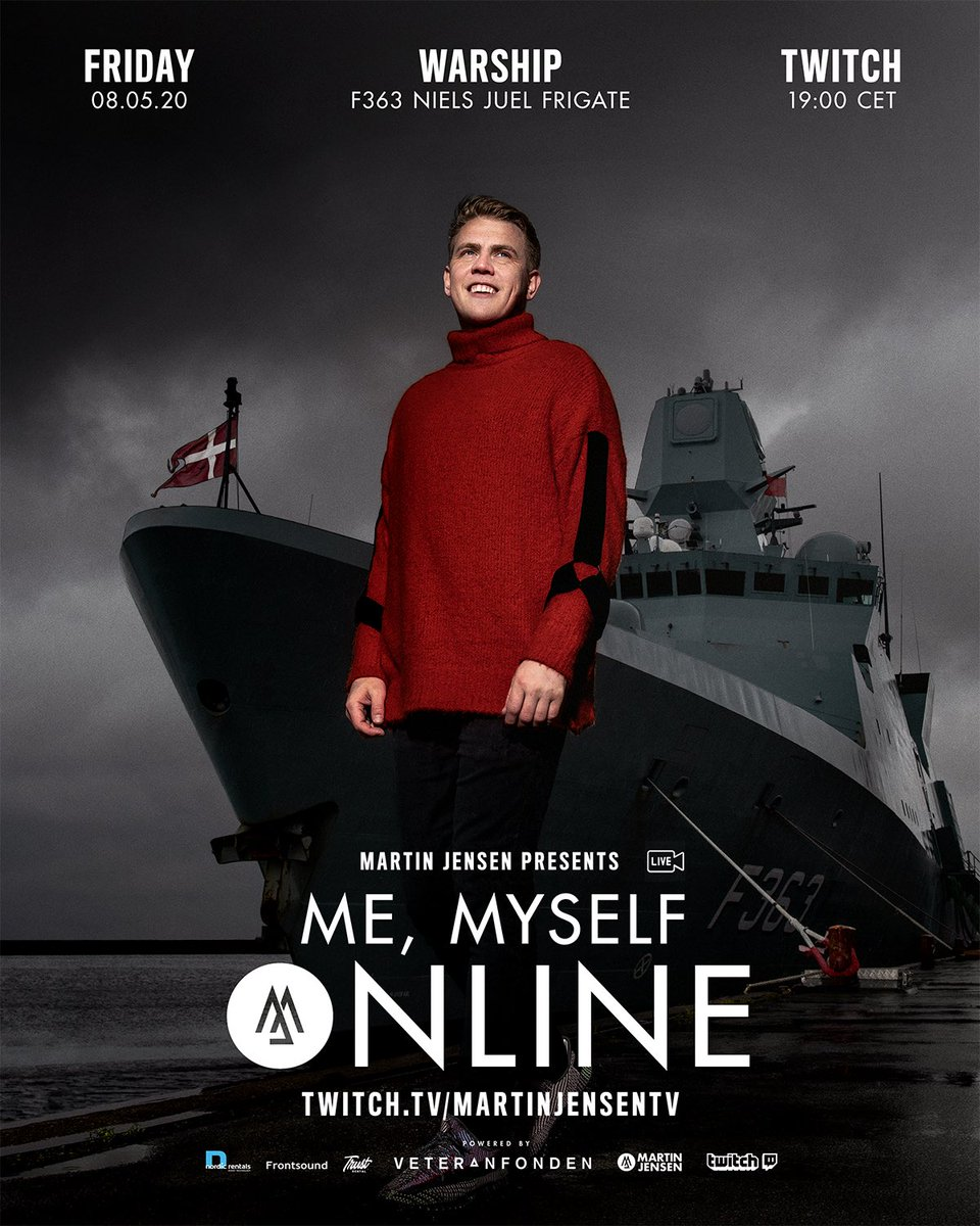 This Friday we take 'Me, Myself, Online' to a truly extraordinary place. In respect and celebration to all the veterans around the world, I am hosting my show on the warship F363 Niels Juel Frigate. This is going to be one for the books. #MeMyselfOnline https://t.co/OZz4X76U8Y