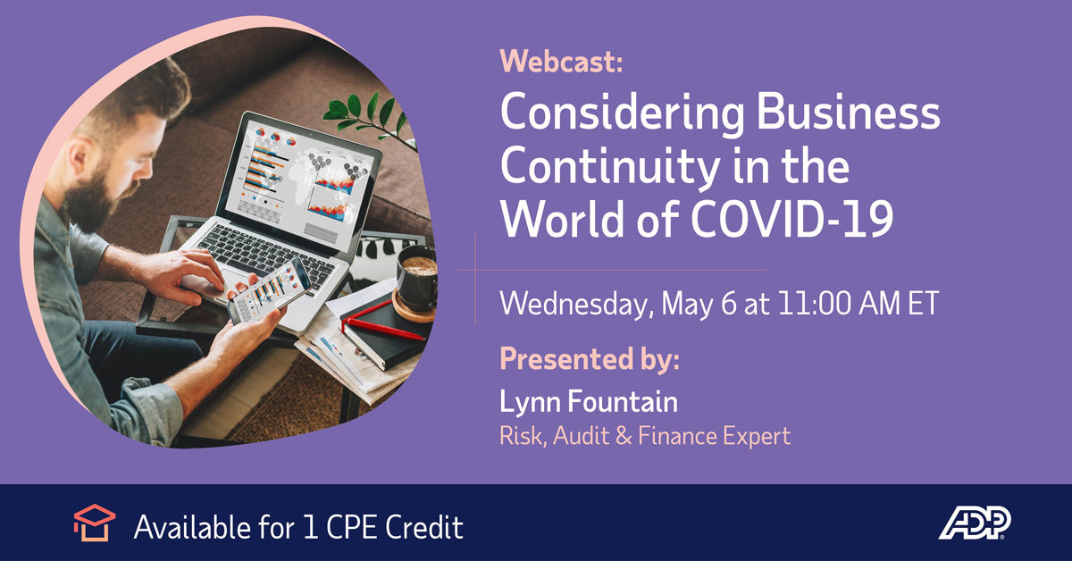 Join Lynn Fountain as she focuses on certain priorities that organizations should consider to protect their businesses and help the economy recover. Those issues span management of HR issues to balancing corporate liquidity. https://t.co/nCn8Vk5dQC https://t.co/JEcvPQ2E7N
