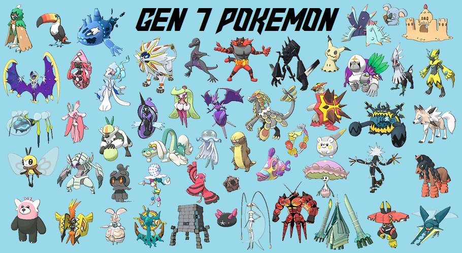 I Am No Longer Grook On Twitter Rt If You Think Gen 7 Had The Best Pokemon Designs