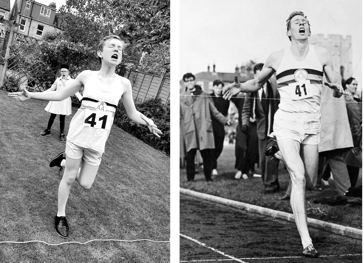 Finalist D  Henry does a splendid job recreating Roger Bannister clocking the 4 minute mile!  @ElthamCollegeUK @ElthamHead @BBCSport https://t.co/XOmoOUrE1s