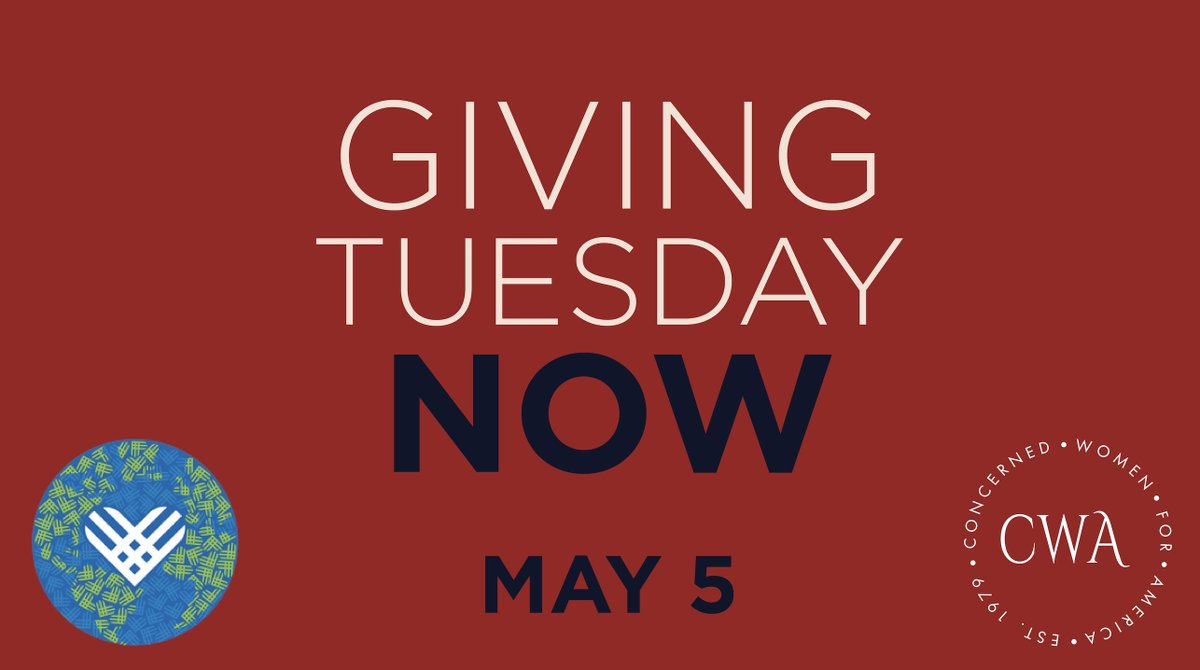 One Day to Go for #GivingTuesdayNow! Please Join Us on May 5th: - mailchi.mp/cwfa/one-day-t…
