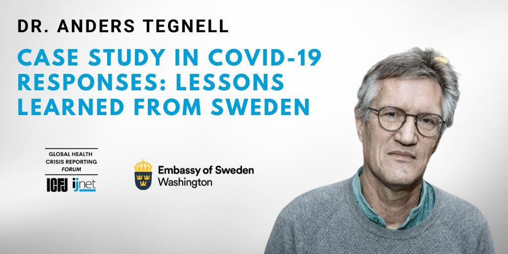 Embassy Of Sweden Us On Twitter Our Next Event In Collaboration W Icfj Sweden S Chief Epidemiologist Dr Anders Tegnell With Icfjoyce On May 8 At 10 Am Est Sign Up Here