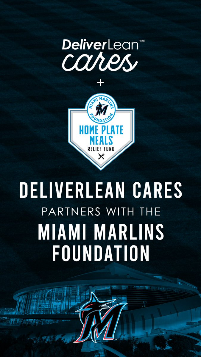 DeliverLean joins us in making a #MarlinsImpact tomorrow to help families impacted during this time. The Food Drive kicks off tomorrow at @MarlinsPark. Details below: