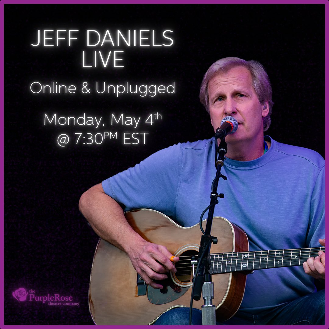 What else you gonna do? 730p ET at the Purple Rose Theatre YouTube Channel. See ya then.