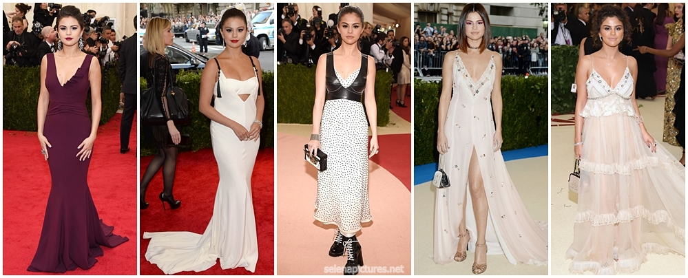 @selenagomez x Met Gala Looks 👗👠👛💍 2014✨|| 2015✨ || 2016✨|| 2017✨ || 2018✨ Which one was your favourite ? https://t.co/WjboBb0lOQ