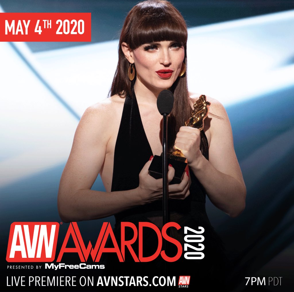 . @theNatalieMars won 4 awards at the #AVNAwards this year. Be sure to check out her night TONIGHT on stars.avn.com/avnawards