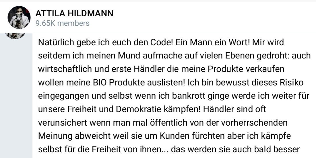 #Hildmann