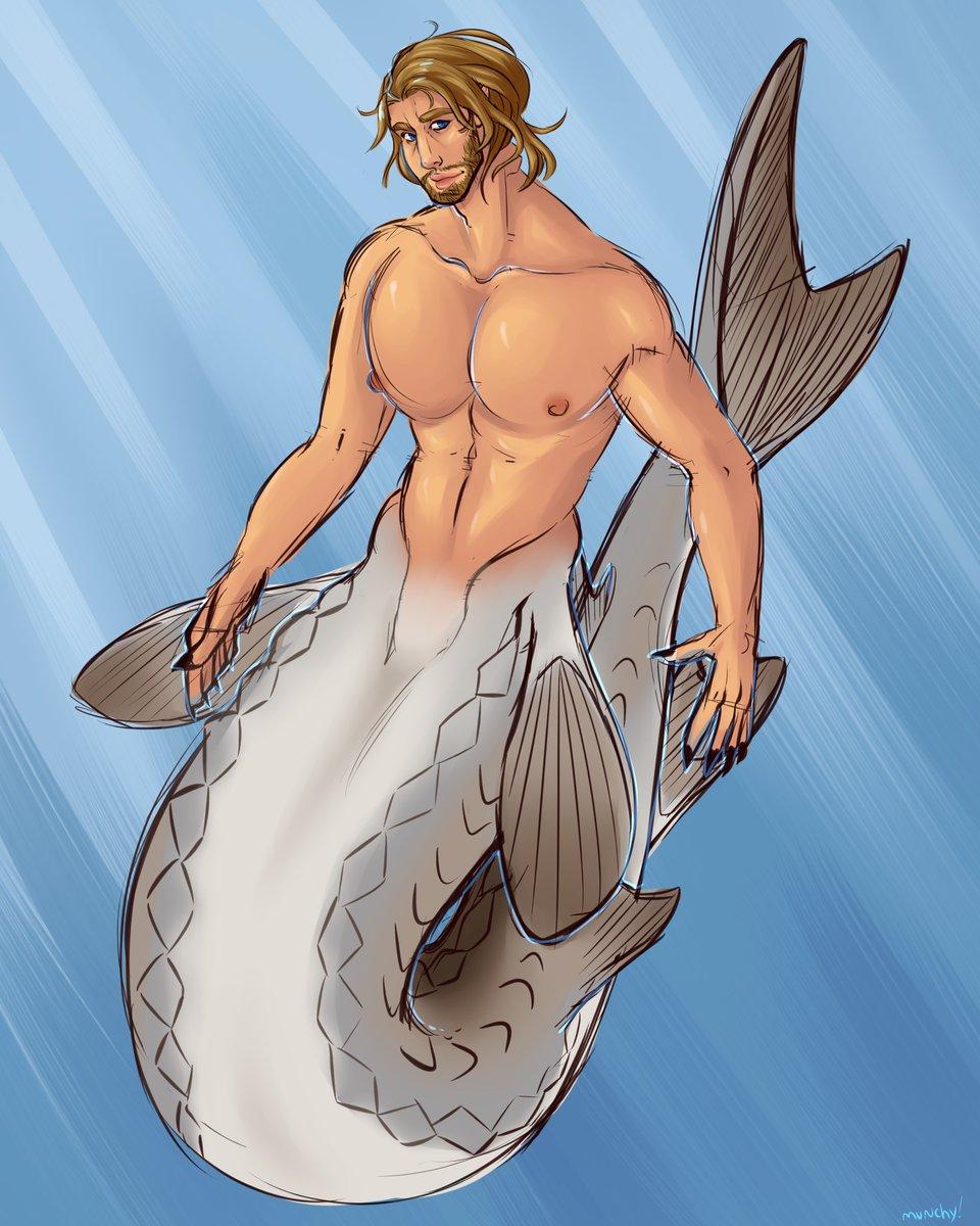After about a year, here's sturgeon!Arthur for #mermay2020   #arthurmorgan #rdr2fanart #mermaidaupic.twitter.com/nxEhcGlipm