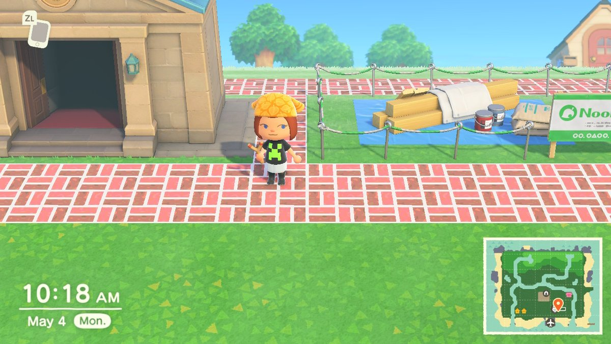 #AnimalCrossing #ACNH #NintendoSwitch Just me and my creeper shirt on my brick path #minecraft #minecraftcreeper pic.twitter.com/23jIOUZS9o