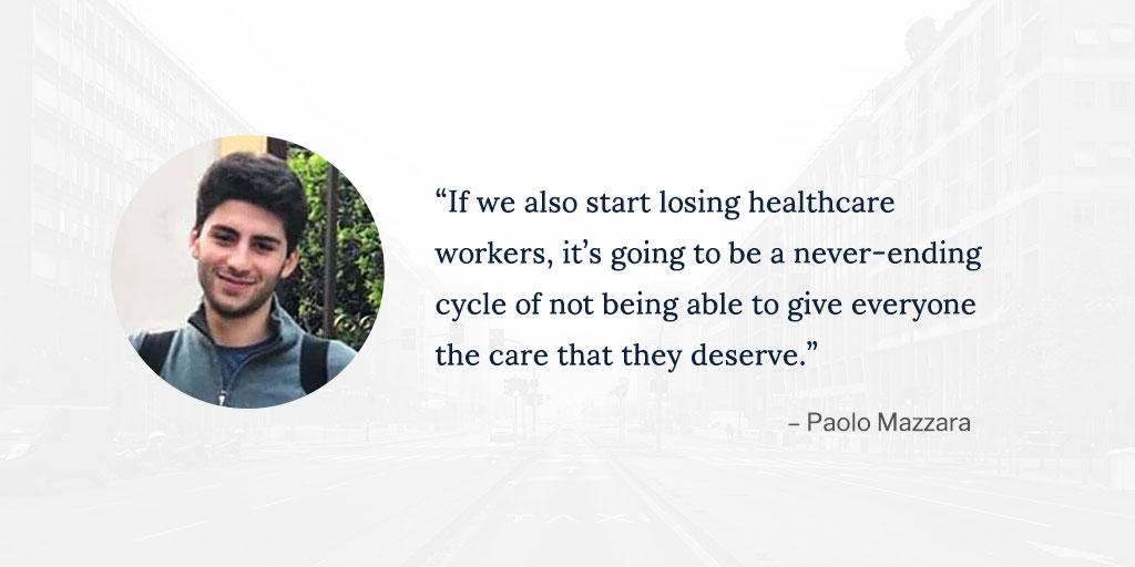 Amid quarantine, Paolo Mazzara '23 is helping Italian healthcare workers: go.nd.edu/PaoloMazzara