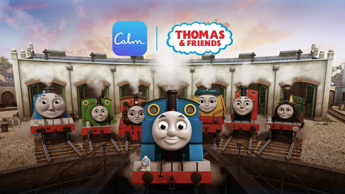 🚂 Calm's Head of Mindfulness, @tamaralevitt teamed up with the @ThomasFriends' engines.  Now you can practice mindfulness with your children in a way that they understand and can enjoy too! https://t.co/G2t3DQnce7 #calmkids https://t.co/oFNqsLPDZw