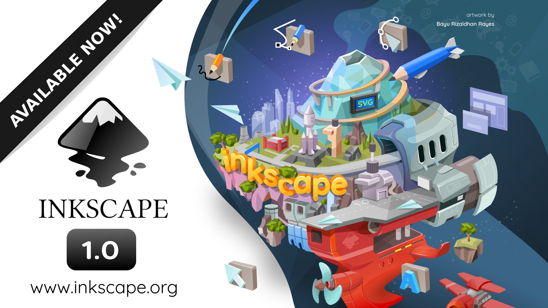Imagen Inkscape alcanza la versión 1.0