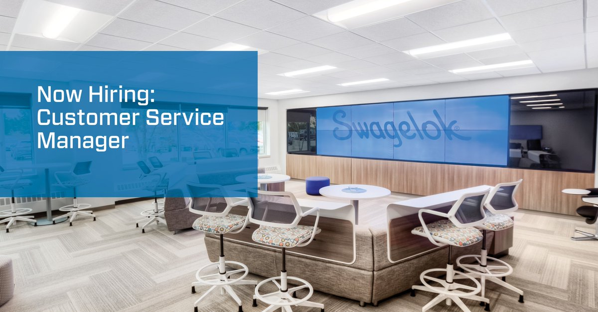 Calling all Customer Service professionals! We're hiring a Customer Service Manager. See if you're qualified: https://t.co/1lo7n9wapM #swagelok #NowHiring https://t.co/ybVe2cpESl
