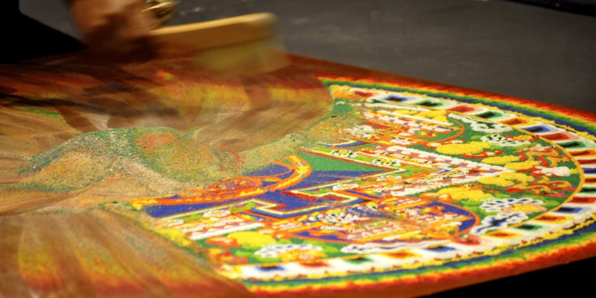 Tibetan Buddhists will spend days, even weeks, constructing beautiful mandalas out of sand, which they destroy immediately after completion  This is to demonstrate their dominance over sand, and remind everyone how much sand fucking sucks pic.twitter.com/cVGhjmNW3O  by Just Regular Housecat