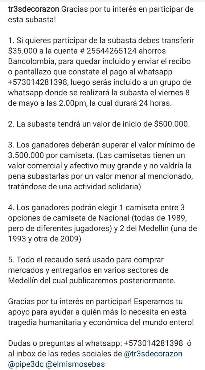 Rene Higuita Di Twitter Hola Todos Les Comparto Esta Informacion Para Que Participen De Esta Subasta Con El Fin De Ayudar A Los Mas Necesitados Dudas O Preguntas Al Whatsapp