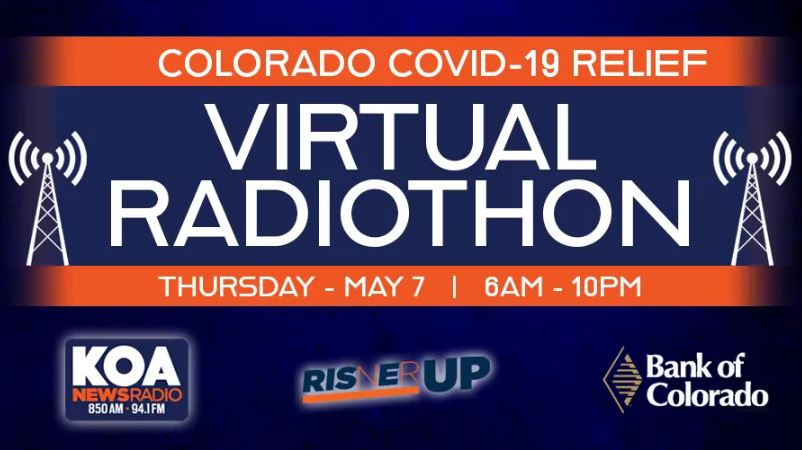We've teamed up with @RisnerupF and @bankofcolorado to bring you the Colorado #COVIDー19 Relief Radiothon!  All day, @Dalton_Risner66 will be on-air and joined by other celebrities and community partners to raise money for local relief efforts. Details: https://t.co/cWkfnXGCQZ https://t.co/w6UxZbywK5
