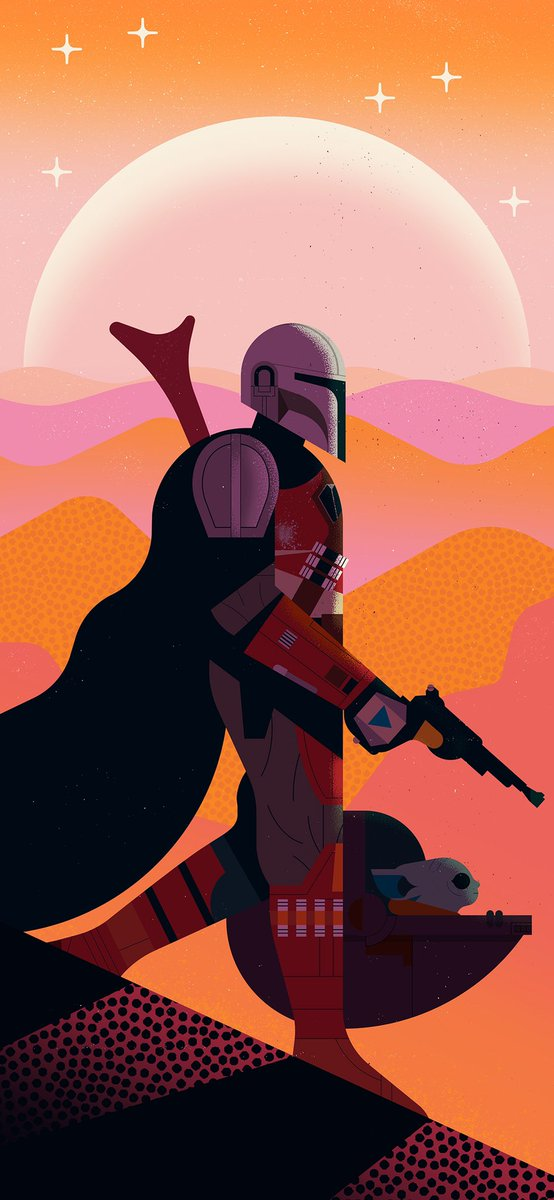 Owen Davey On Twitter It S Star Wars Day Mandalorian Free Phone Wallpaper For The Wish I Was There Campaign By M Folioart Save It To Your Phone And Use It As