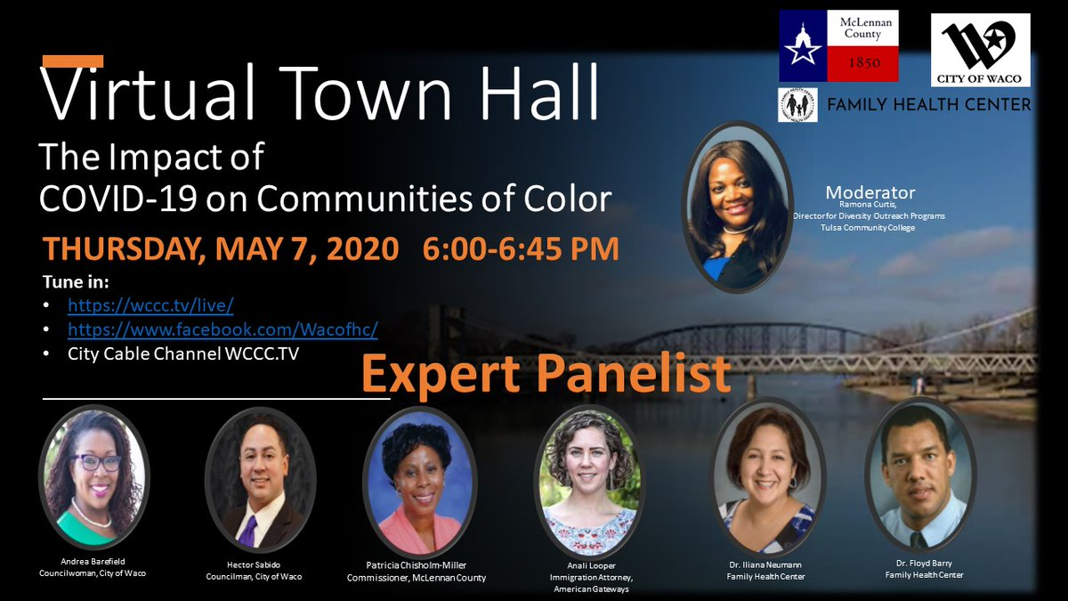 Please join the City of Waco's Virtual Town Hall on May 7