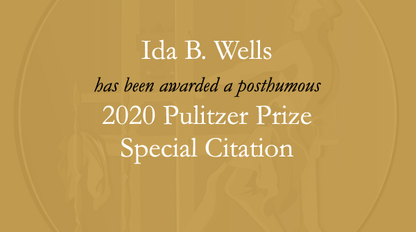 Congratulations to the family of the late #IdaBWells, including @MichelleDuster. #Pulitzer