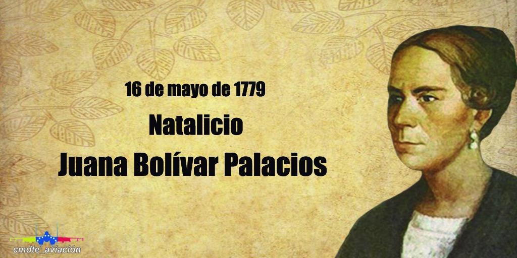 Hoy recordamos 241 años del natalicio de Juana Bolívar Palacios, quien en vida fue la hermana de nuestro libertador Simón Bolívar y una insigne  compatriota muy apreciada y respetada por la sociedad caraqueña.  #LealesSiempreTraidoresNunca #RumboAlCentenarioAMB https://t.co/VPj4U8xwMk