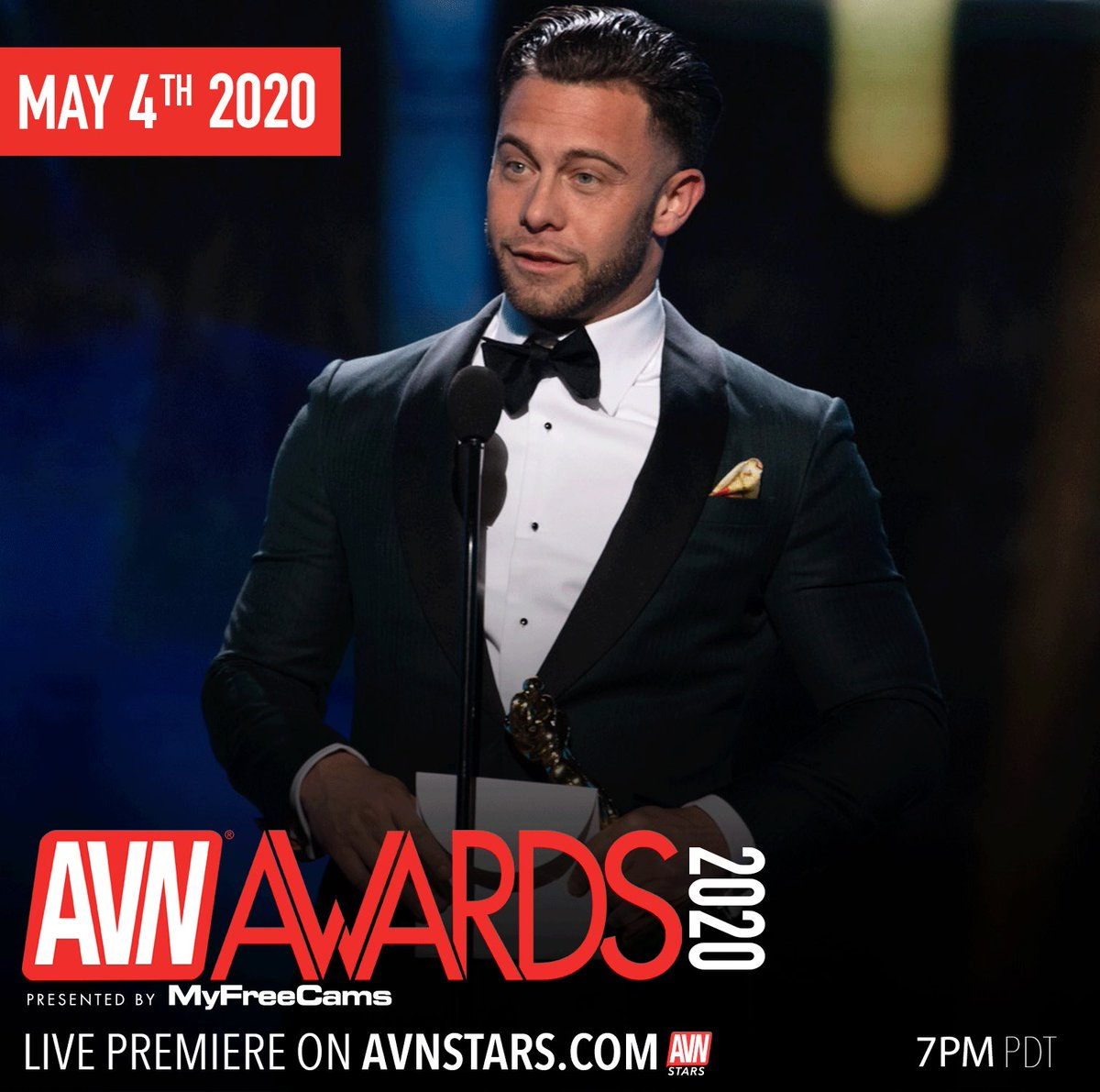 Our Best Leading Actor @sethgamblexxx will be there tonight at the Live Premiere of the AVNAwards. How about you? Stars.avn.com/AVNAwards