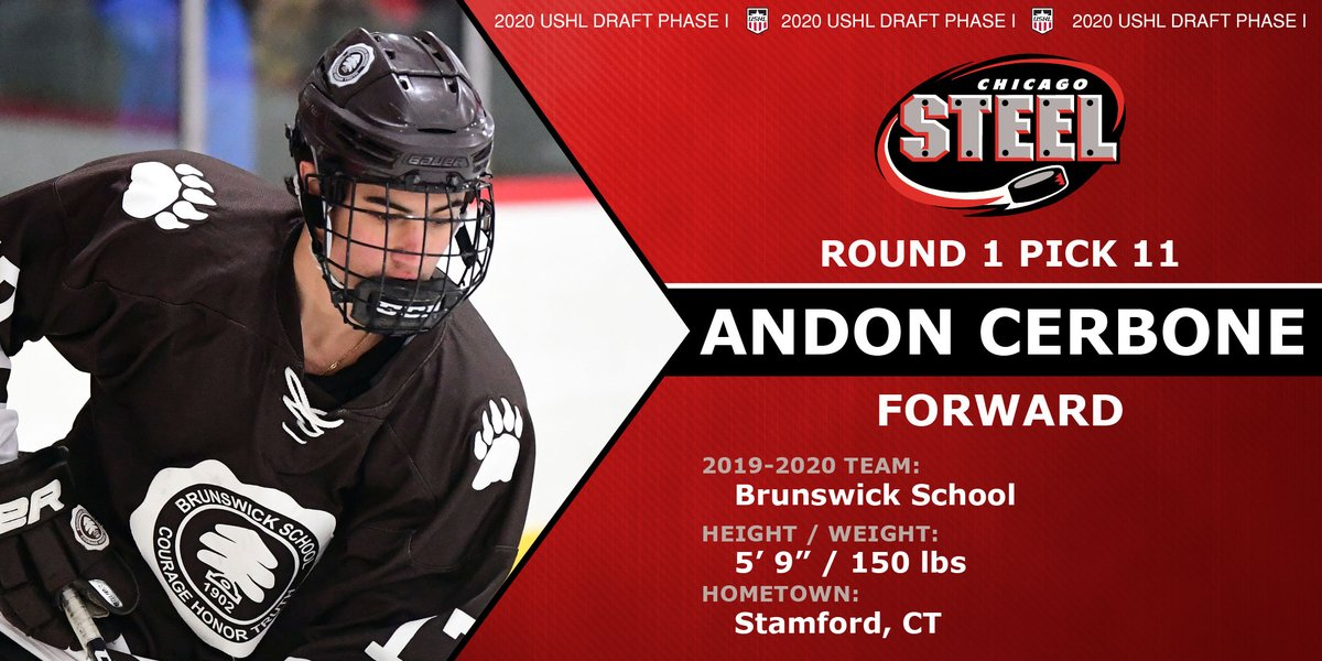 This is CER-tainly a strong selection! Welcome to the Steel, Andon Cerbone!