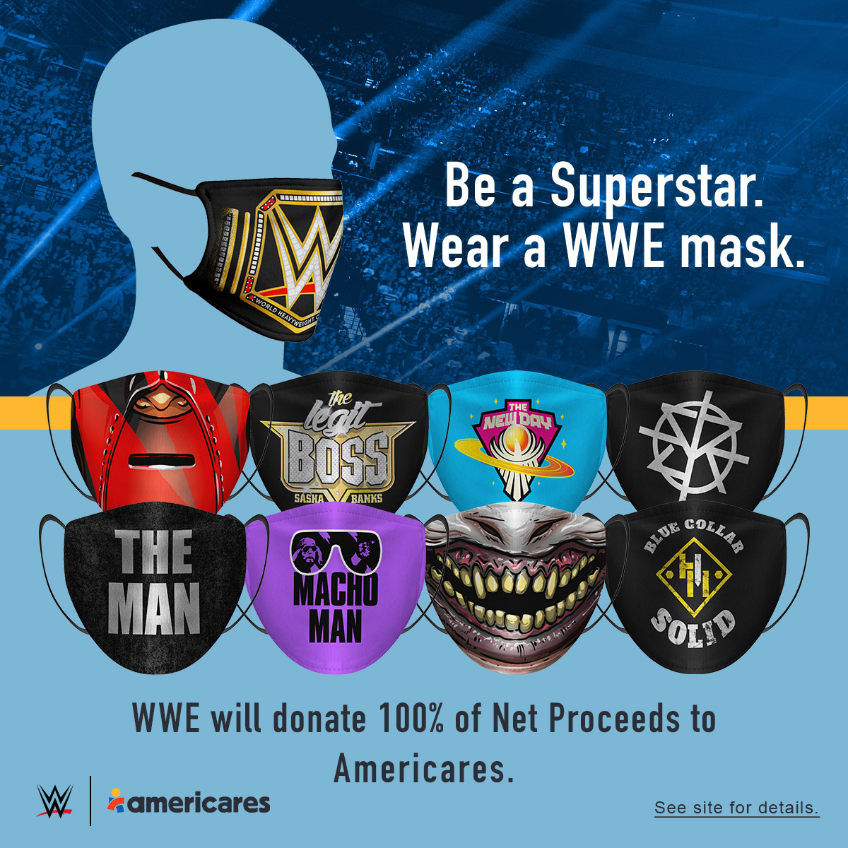 WWE Selling Masks For Charity During COVID-19 Outbreak