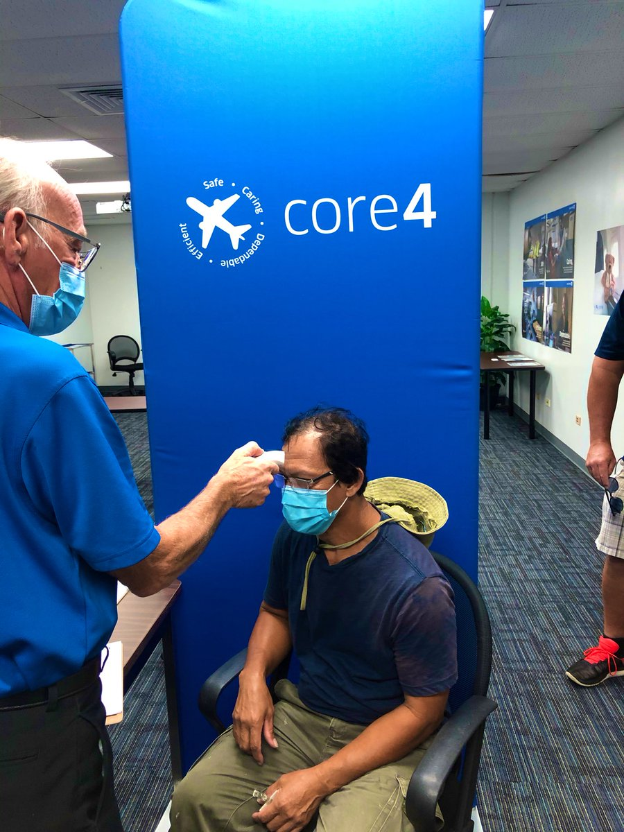GUM rolls out temperature checks, to keep each other safe, healthy and strong! #UAPacificsafety #beingunited #whyIloveAO