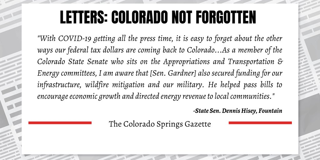 My top priority is delivering for CO in the midst of this pandemic, but we cannot forget the many other issues that impact all Coloradans as we look towards life beyond COVID-19. (1/3)