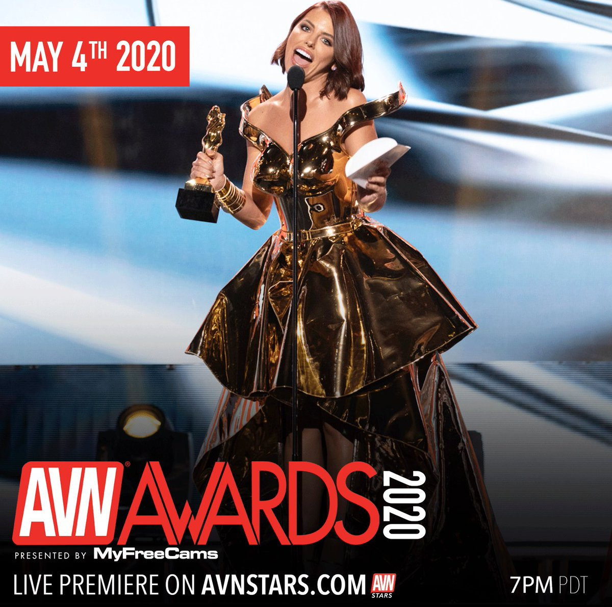 1 hour!!!! 1 hour till the #AVNAwards airs on AVNStars dot com. Be sure to watch @adrianachechik win her award tonight!