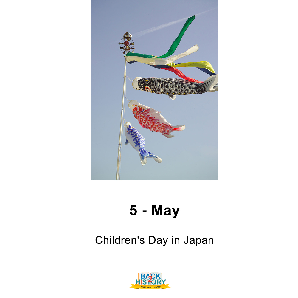 5 - May - Children's Day in Japan.  #History #WorldHistory #Historymemes #WorldHistorymemes #JapanHistory #HistoryofJapan #Japan #OnthisDay #OnthisDaymemes #childrensday #ChildrensdayofJapan #Back_2_History #Back2History #backtoHistory #todaysspecialpic.twitter.com/WwhnUZObEy