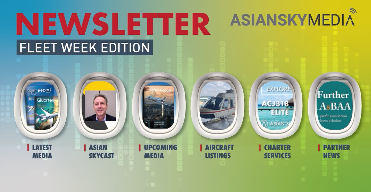 April was a busy month for #AsianSkyGroup & #AsianSkyMedia. Check out our #ASGFleetWeek edition of the monthly newsletter, including the latest publications, podcasts, #aircraft listings & more: https://t.co/t3pznM1BX2  #avgeek #aviation #businessaviation https://t.co/pcpUnLwwqe
