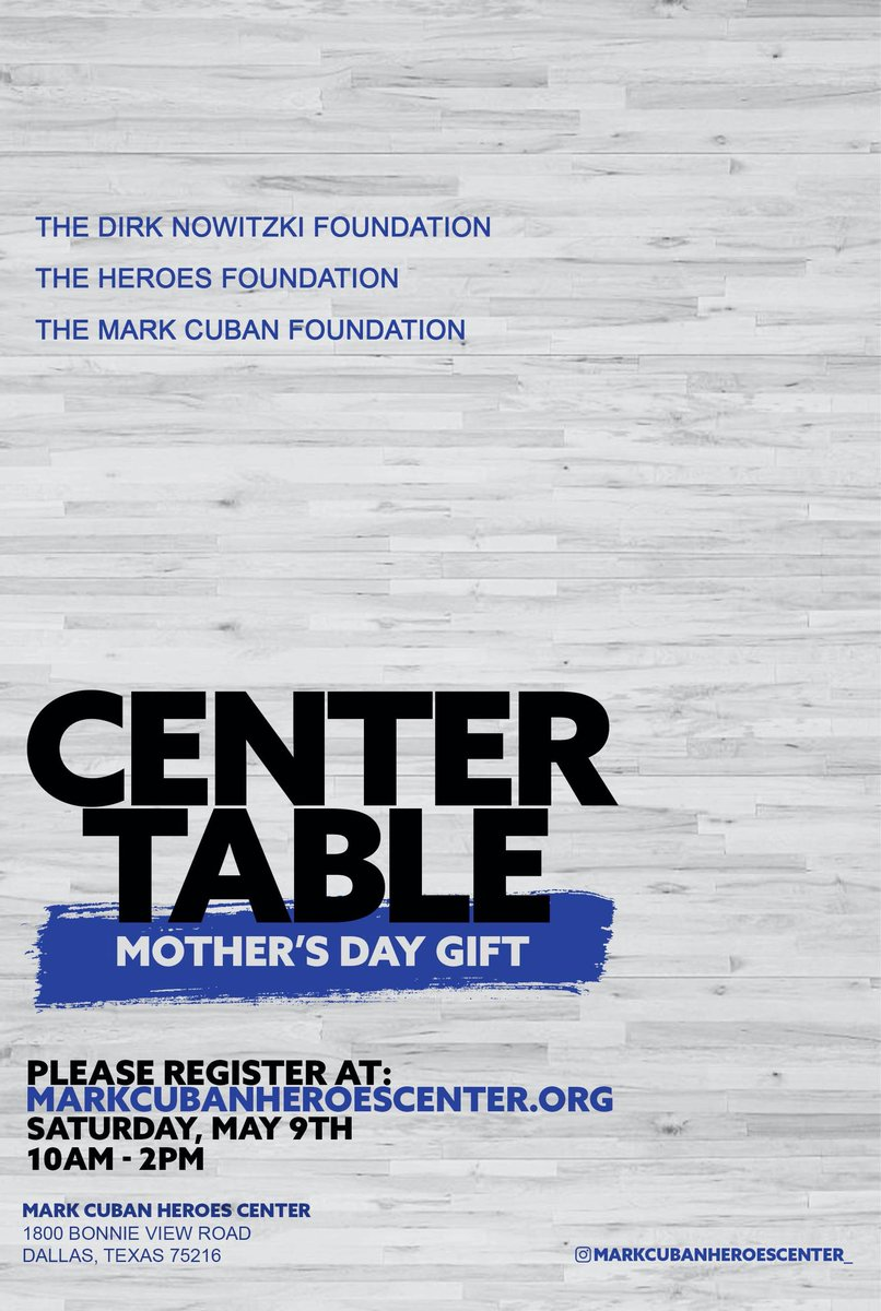 We're celebrating moms by giving families living in Southern Dallas zip codes 75216, 75227 meal boxes May 9 10am-2pm. Register now! https://t.co/q1a2C6qlz7 @FoundationDn @mcuban @HeroesCelebrity  #meals4moms  #ourheroes https://t.co/uCZGRbiXxA
