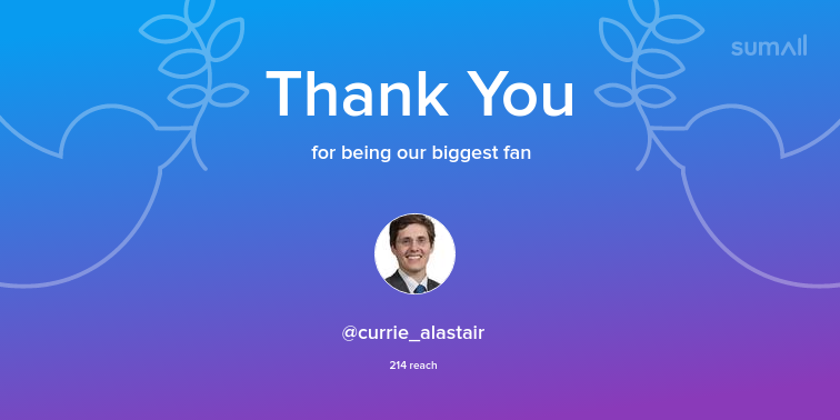 Our biggest fans this week: currie_alastair. Thank you! via https://t.co/31nO92kIV9 https://t.co/WVAVggC5Ey