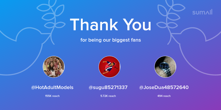 test Twitter Media - Our biggest fans this week: HotAdultModels, sugu85271337, JoseDua48572640. Thank you! via https://t.co/SPozDQpAuj https://t.co/gqiZYqceh4