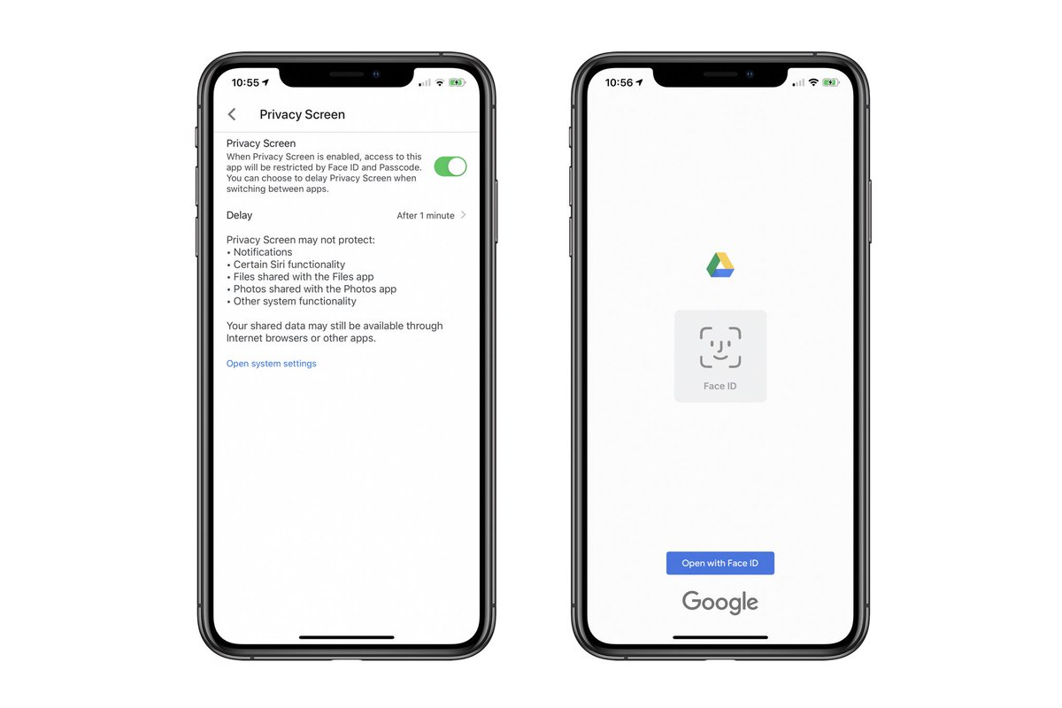 Google Drive adds Face ID and Touch ID protection on iPhone and iPad