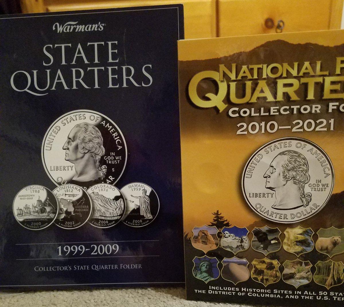 I'm finally organizing these.  #USMint #statequarters #nationalparkquarters