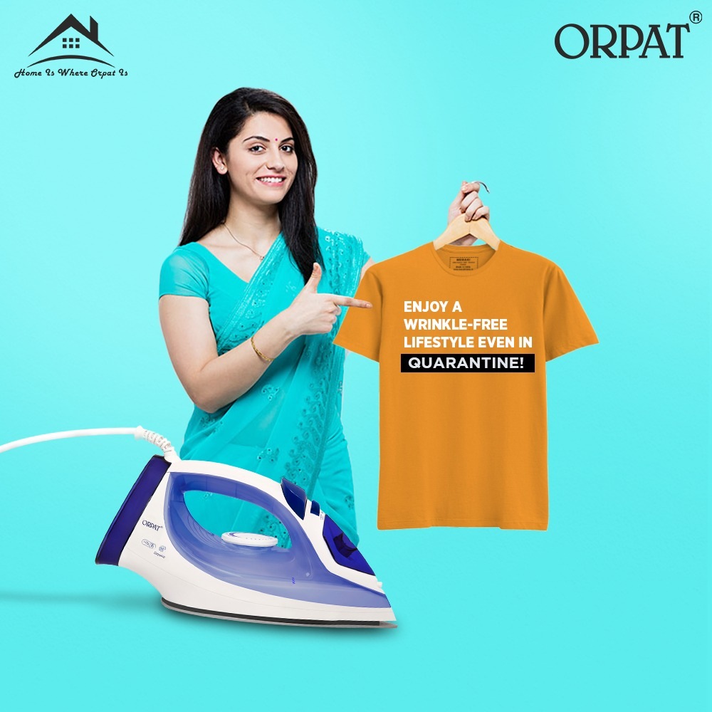 You look the best; you feel the best; when you live a wrinkle-free lifestyle with a smart Orpat Iron.  #Orpat #HomeIsWhereOrpatIs #Electronics #HomeAppliances #Iron #ElectricIron #OrpatIron #StyleHigh #Style #WrinkleFree #Clothes #Quarantine #OrpatGroup #StayHome #StaySafepic.twitter.com/NfSlKYsRmO