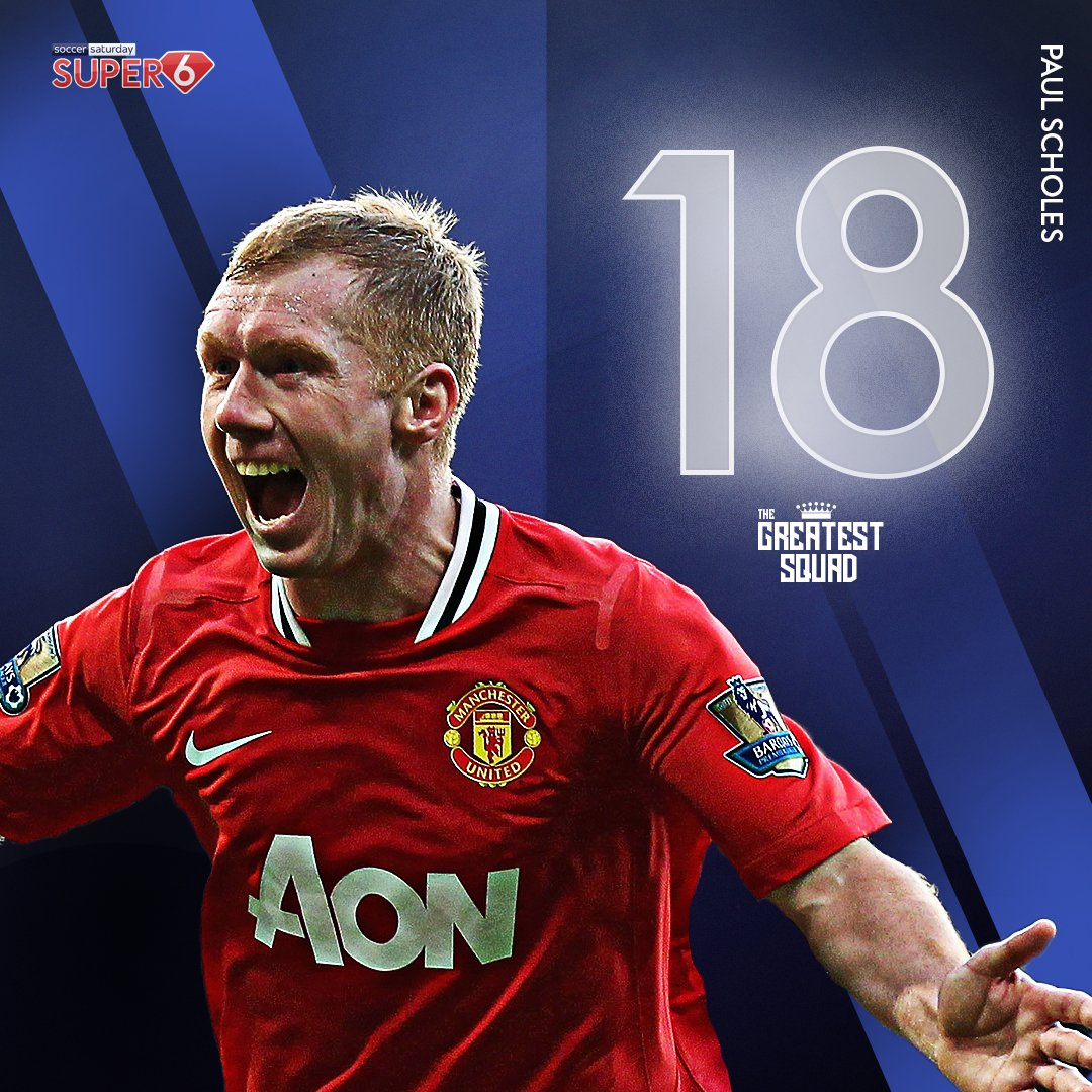 """He's a @ManUtd legend 🔴  An 11-time Premier League winner 🏆  He was once described by Zinedine Zidane as """"the complete player"""" 🗣️  Paul Scholes completes #TheGreatestSquad 👑 #MUFC https://t.co/fmjaLFmmGL https://t.co/e5yCTZIn3S"""
