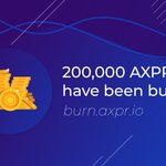 Image for the Tweet beginning: 200,000 $AXPR have been burned
