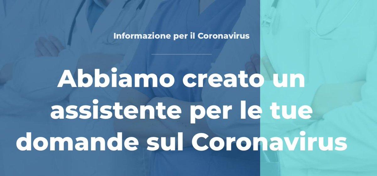 Abbiamo aggiornato il nostro chatbot con le informazioni sul coronavirus: potete provarlo cliccando sul link qua sotto ⬇️   #awhy #chatbot  https://t.co/hUnyTzeVAX https://t.co/i9CISY1KlU