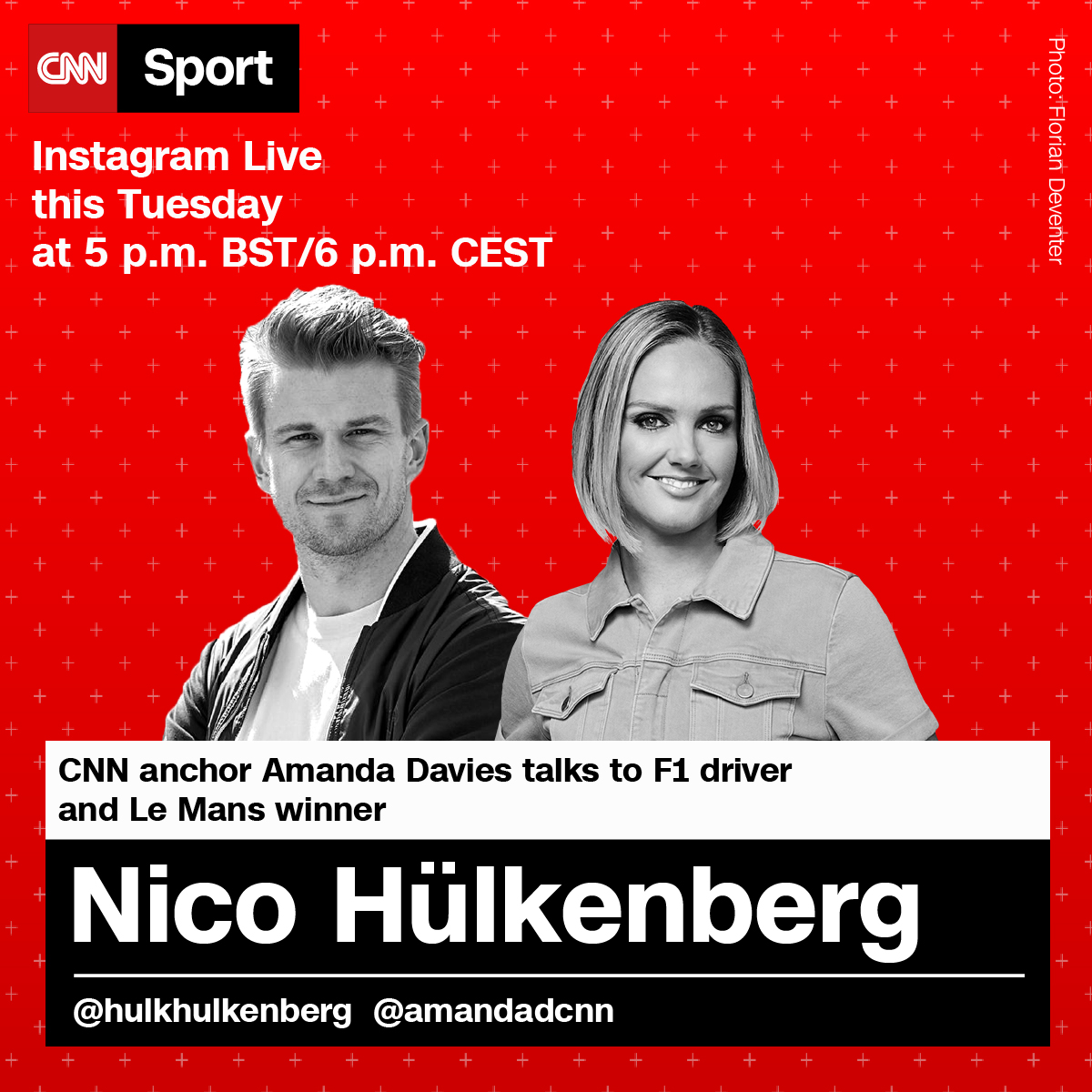 We're live with @HulkHulkenberg in less than an hour!   Don't forget to tune in at: https://t.co/Ab2XIG9yyy https://t.co/03I7pf2yuX
