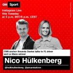 We're live with @HulkHulkenberg in less than an hour!   Don't forget to tune in at: https://t.co/Ab2XIG9yyy