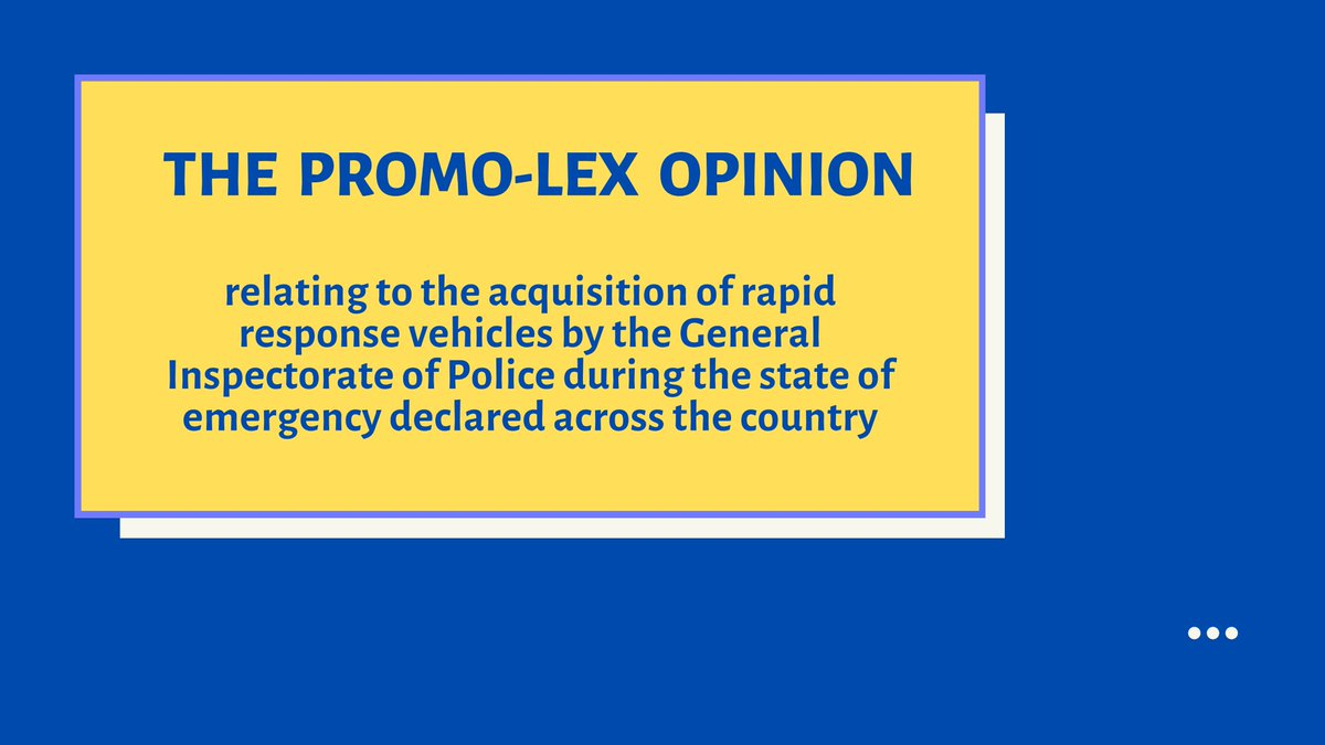Promo-LEX: the acquisition of rapid response vehicles by the General Inspectorate of Police, without the implementation of other measures included in the Police Development Strategy,could contribute insignificantly to the reduction of the intervention time https://t.co/QDX36GHtx3 https://t.co/qacMCXelnb