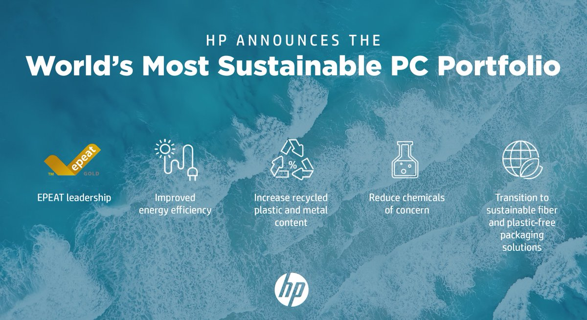 With more recycled content, product life & efficiency @HP now has the world's most #sustainable PC portfolio. Thanks for passion & leadership @ellenjackowski, Aaron Weiss & the HP Personal Systems team! This is a journey & we will keep raising the bar bit.ly/2YADa85
