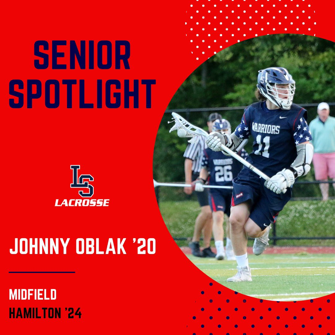 Introducing our next #SeniorSpotlight and Captain, Johnny Oblak!  #1️⃣1️⃣ Position: Midfield 📚: @HamCollMensLax '24  Thank you, Johnny! https://t.co/2tEZz4BZz0
