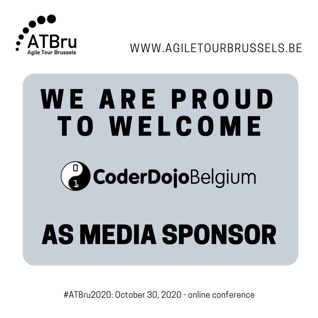Thanks to CoderDojo Belgium to help us as a media sponsor for your Agile Conference. @CoderDojoBe , free coding workshops for girls and boys ages 7 to 18. Writing code is Fun and They show it every day !  ▶️ https://t.co/8Yy7yXCGjs  #ATBru2020 - October 30, 2020 - online conf. https://t.co/AFJTtFYfPM