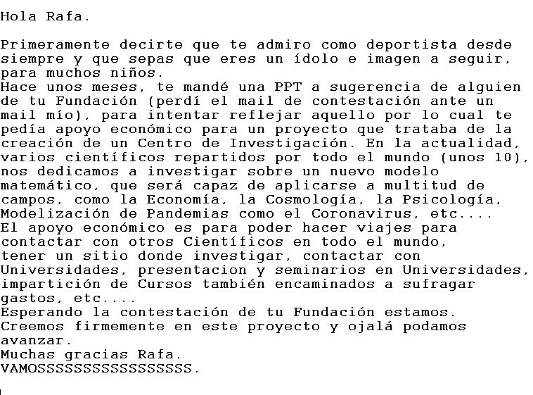 @frnadal @RafaelNadal Un abrazo, Rafa: https://t.co/Xf7k5AHdKs
